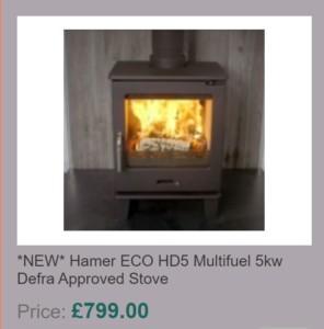 Hamer ECO HD5 Multifuel 5kw Defra