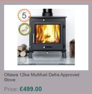 Ottawa 12kw Multifuel Defra