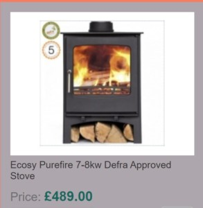 Ecosy Purefire 7-8kw Defra Approved Stove